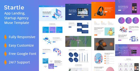 Startle-App Landing Startup Agency Muse Template