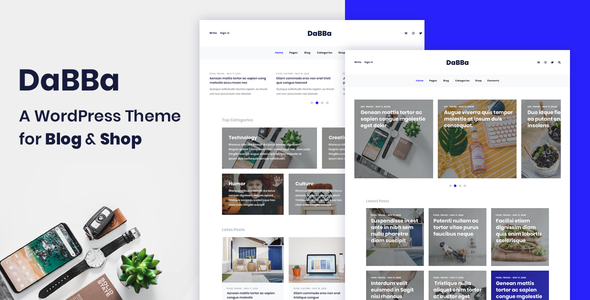 Dabba – A WordPress Theme For Blog & Shop