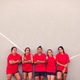 Graphic Shot Of Womens Football Team Leaning Against Wall Whilst Training For Soccer Match - PhotoDune Item for Sale