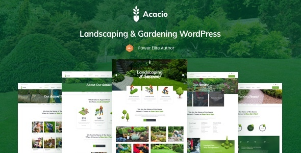 Acacio - Landscaping & Gardening WordPress by fox-themes