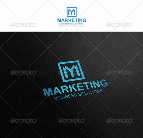 M - Marketing Logo - Letters Logo Templates