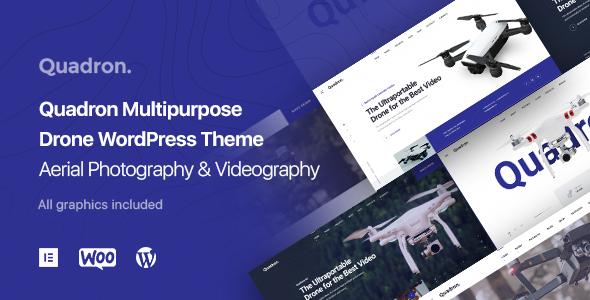 Aerial Photography & Videography UAV WordPress Theme - Quadron