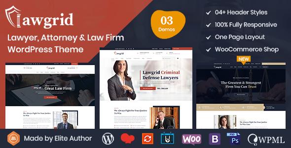 Lawgrid - Lawyer & Attorney WordPress Theme