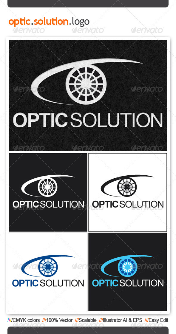 Optic Solution Logo Template - Humans Logo Templates