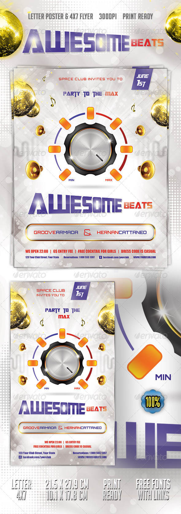 Beats Poster & Flyer - Clubs & Parties Events