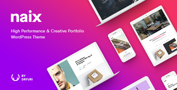 Naix - Creative & High Performance Portfolio WordPress Theme