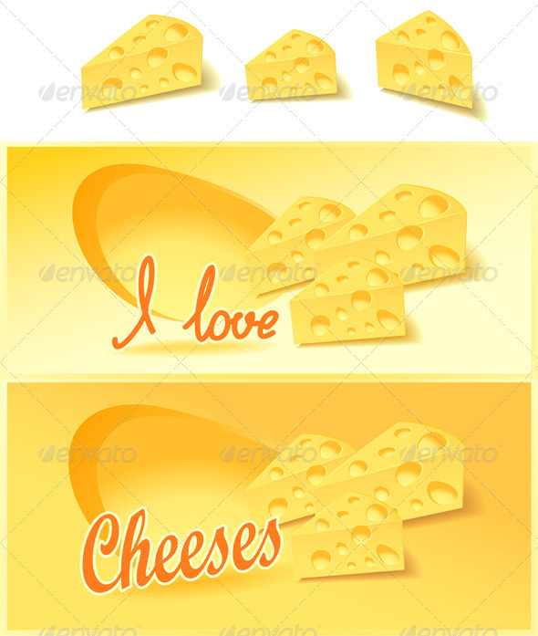 Cheese isolates and for advertising  in the shop - Food Objects
