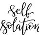 Black handwritten inscription SELF ISOLATION  on a white background - PhotoDune Item for Sale