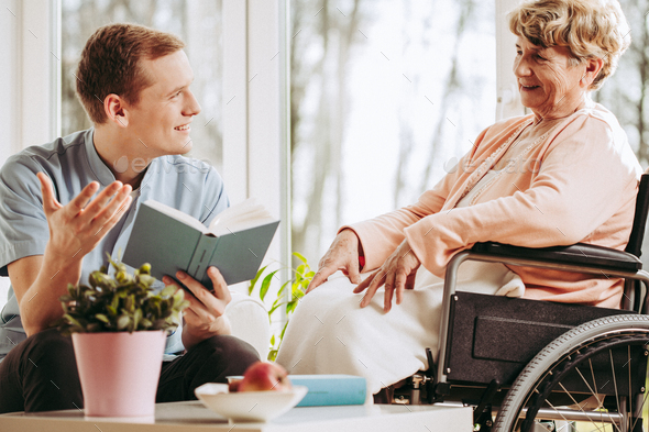 Woman on wheelchair - Stock Photo - Images