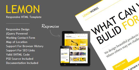 Lemon - Responsive Portfolio Template - Portfolio Creative