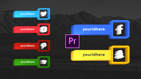 Social Media Clean Lowerthirds- Premiere Pro