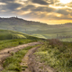 Dirt road in tranquil landscape Tuscany - PhotoDune Item for Sale