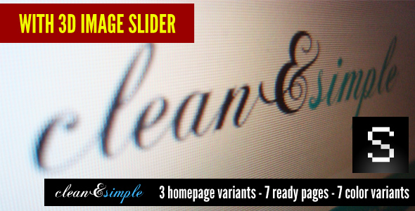 Free Download clean&simple - with 3d image slider Nulled Latest Version
