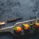 Fresh orange mandarin on wooden cutting board. eco vegetarian. PNOV2019 - PhotoDune Item for Sale