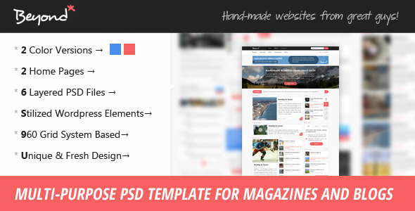 Beyond – Multi-purpose PSD Template