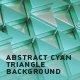Abstract Cyan Triangle Background - VideoHive Item for Sale