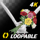 Dove with Bouquet - 4K Flying Cycle - Front View - VideoHive Item for Sale