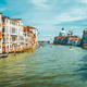 Venice, Italy. Spring season trip on Grand Canal and Basilica Santa Maria della Salute at sunny day - PhotoDune Item for Sale