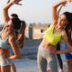 Fitness, sport, training and lifestyle concept. Group of fit people exercising outdoor - PhotoDune Item for Sale