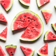 Watermelon pattern. Red watermelon on white background. Summer concept - PhotoDune Item for Sale