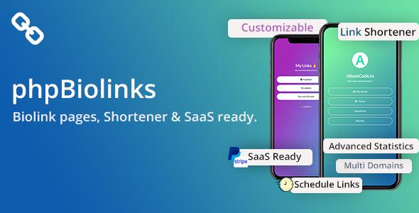 BioLinks - Instagram & TikTok Bio Links & URL Shortener (SAAS Ready)