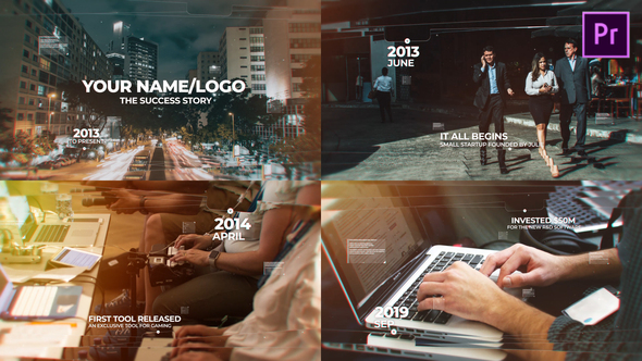 Modern Timeline Slideshow MOGRT