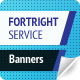 Fortright Service Web Banners - GraphicRiver Item for Sale
