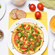 Omelet with broccoli, tomato and green herbs - PhotoDune Item for Sale