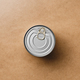 Top view on a canned food on a beige background. Minimal style food photography. - PhotoDune Item for Sale