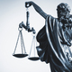 Cropped view of statue of Justice with the scales - PhotoDune Item for Sale