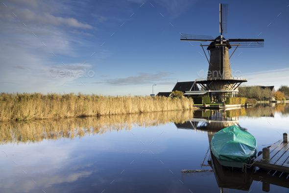 Windmill De Vriendschap - Stock Photo - Images