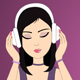 Cartoon Woman Listens To The Music - VideoHive Item for Sale
