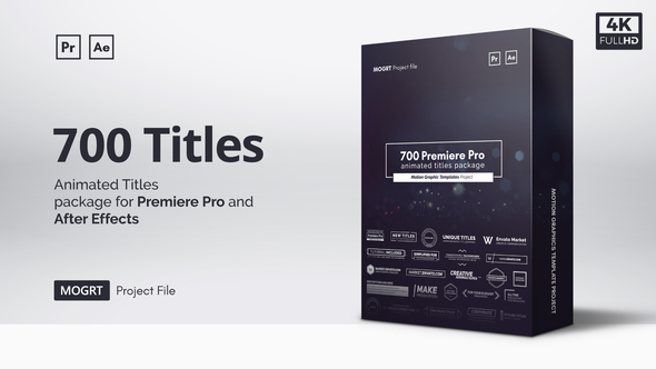 Mogrt Titles – 300 Animated Titles for Premiere Pro & After Effects