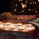 Freshly Baked Star Shaped Christmas Cookies On Board Dusted With Icing Sugar - PhotoDune Item for Sale