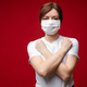 Woman in aseptic mask with crossed arms on her chest - PhotoDune Item for Sale