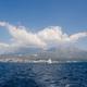 boat sail in sea bay - PhotoDune Item for Sale