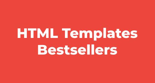 HTML Template Bestsellers
