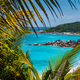 Coastline of La Digue island in Seychelles. Grand and Petite Anse paradise beaches with blue ocean - PhotoDune Item for Sale