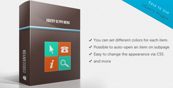 jQuery Glyph Menu - CodeCanyon Item for Sale