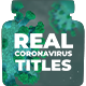 Real Coronavirus Titles - VideoHive Item for Sale