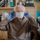 Old man wearing protective mask and gloves - PhotoDune Item for Sale