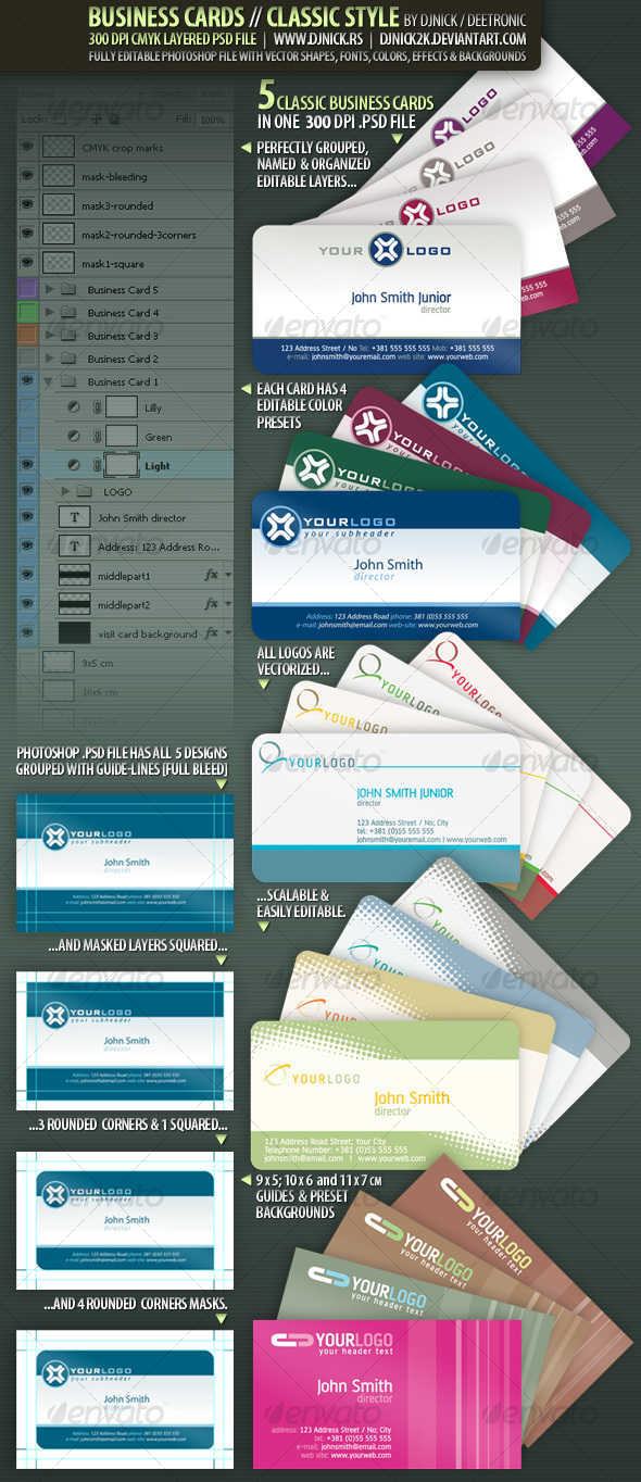 Business Cards - Classic Style by djnick deetronic - Corporate Business Cards