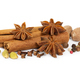 Cinnamon, star anise, cardamom, nutmeg, cloves and mixture of peppers - PhotoDune Item for Sale