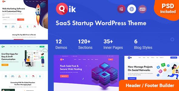 Qik – SaaS Startup WordPress Theme