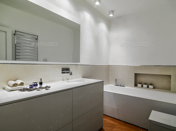 Interiors of the Modern Bathroom - Stock Photo - Images
