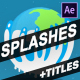 Splash And Titles | After Effects - VideoHive Item for Sale