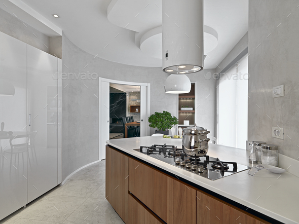 Interiors of the Modern Kitchen - Stock Photo - Images