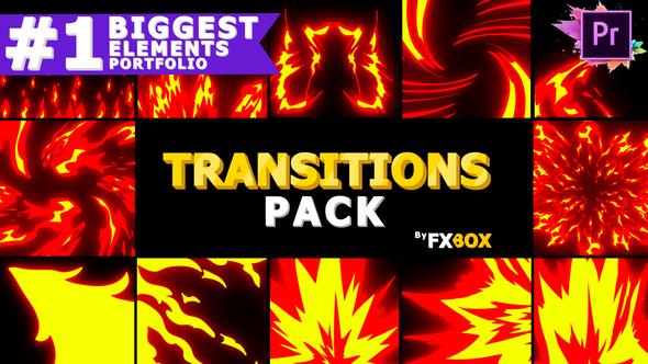 Fire Transitions | Premiere Pro MOGRT