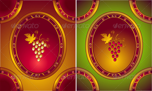Labels or logo for Wines in old style - Decorative Vectors