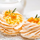 Meringue cake decorated with kumquat and tea - PhotoDune Item for Sale